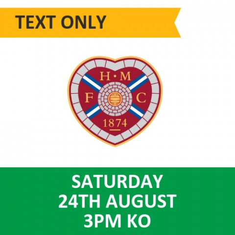 Celtic v Hearts - August 24, 2019, Text only