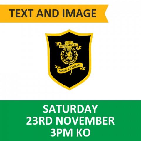 Celtic v Livingston - November 23, 2019, Text and image