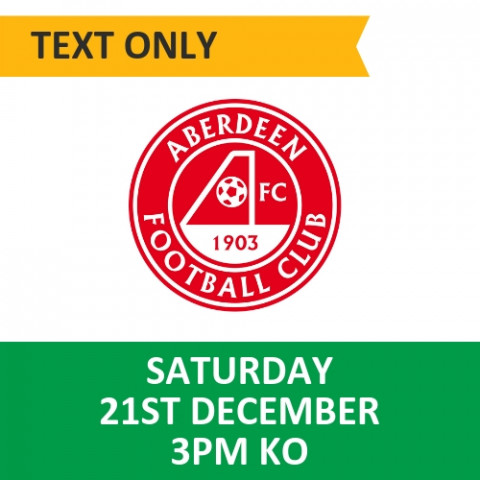 Celtic v Aberdeen - December 21, 2019, Text only