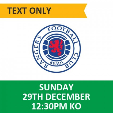 Celtic v Rangers - December 29, 2019, Text only