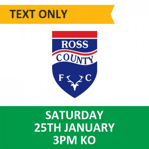 Celtic v Ross County - January 25, 2020, Text only