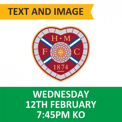 Celtic v Hearts - February 12, 2020, Text and image