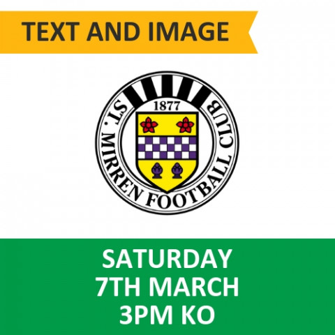 Celtic v St Mirren - March 7, 2020, Text and image